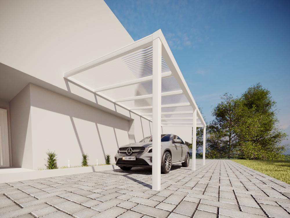 Aluminium Carport weiß
