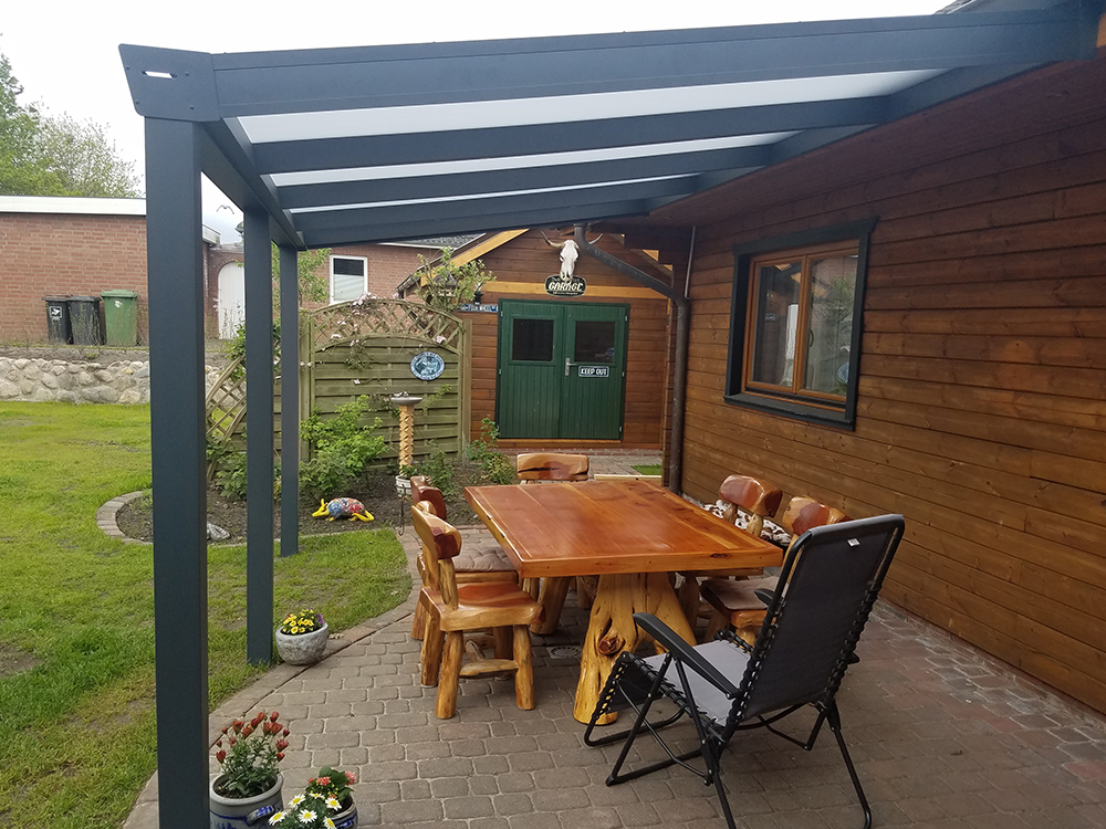 Aluminium Carport Anthrazit Matt