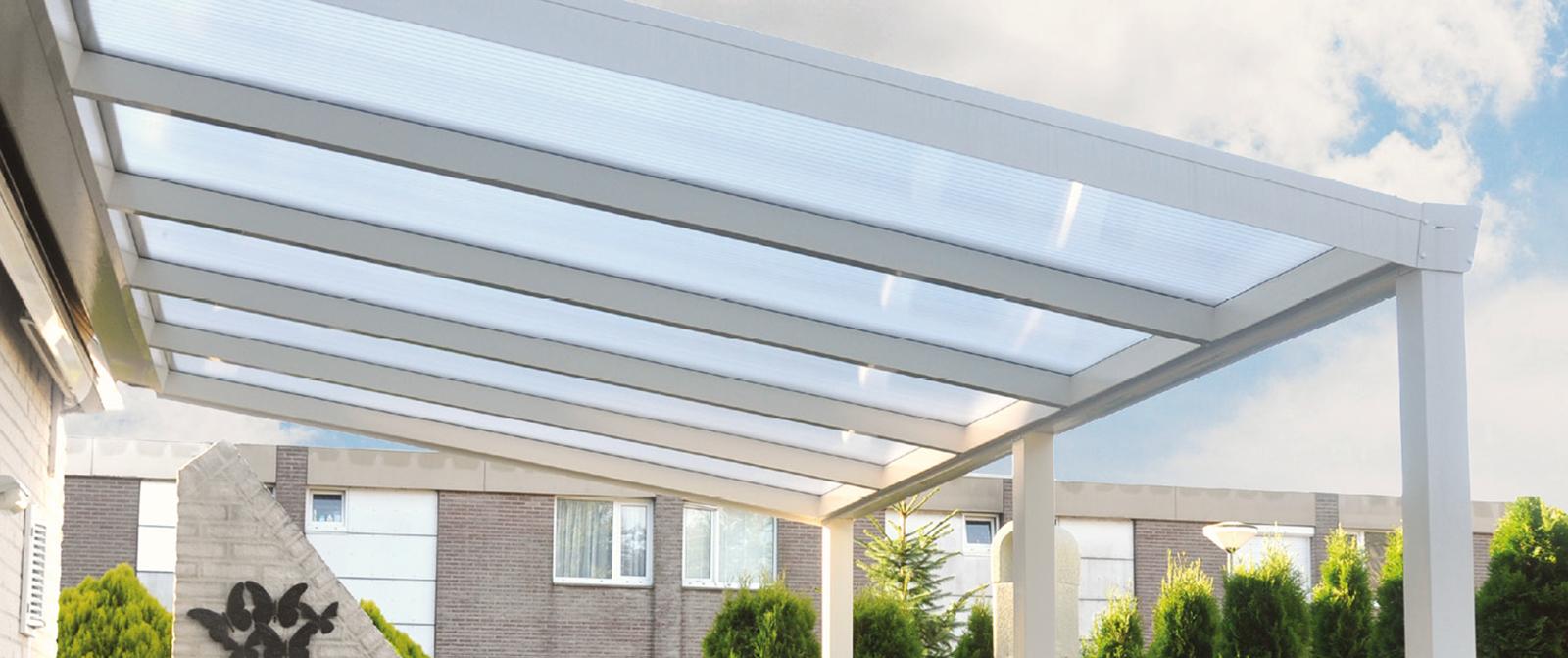 Terrassendach weiß Aluminium