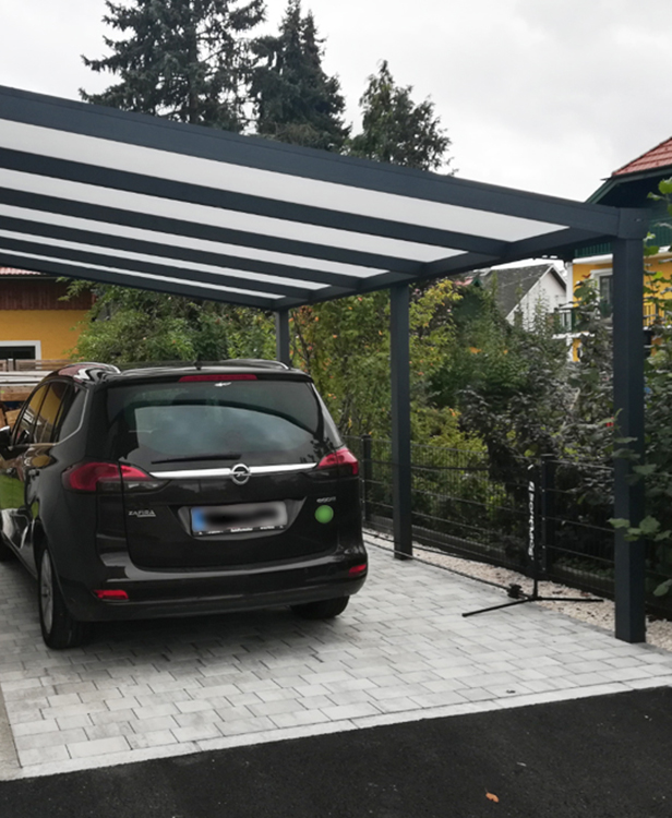 Carport Anbau Anthrazit Matt
