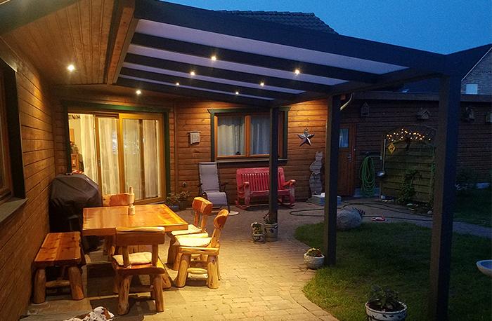 Terrassenüberdachung Beleuchtung