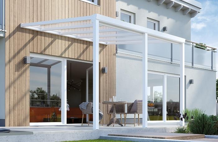 Terrassenüberdachung CC90 weiß