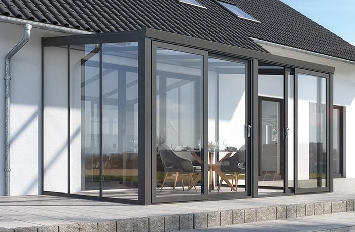 Terrassenüberdachung CC90 Glasschiebewand