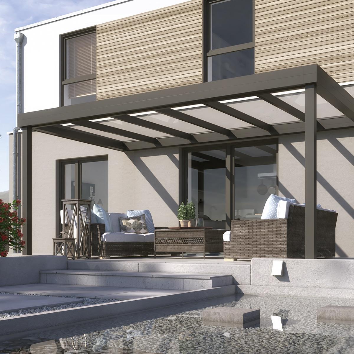 Terrassenüberdachung Flachdach