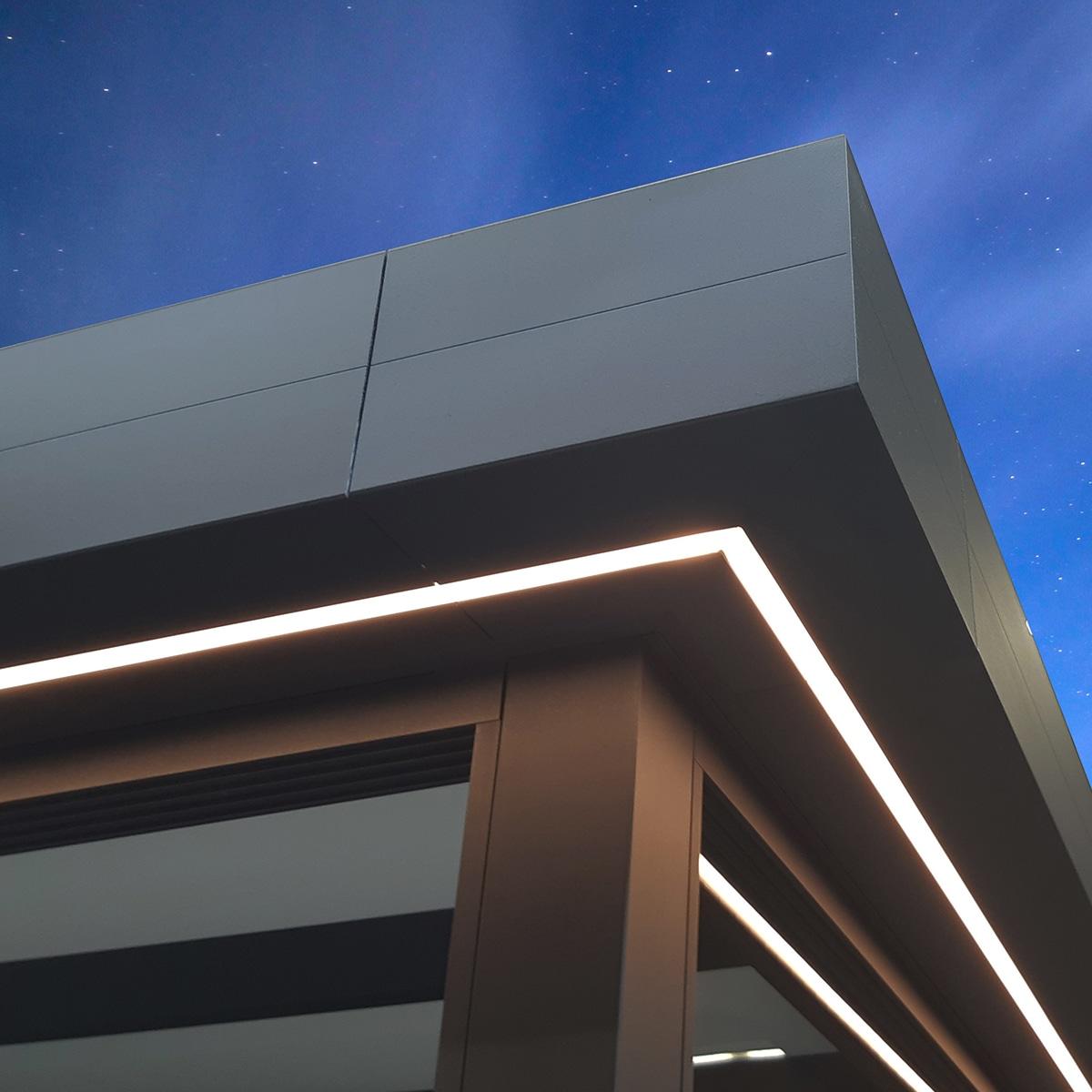 Terrassenüberdachung LED