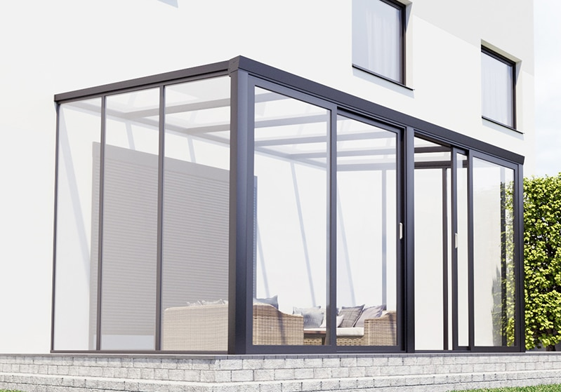 Terrassenüberdachung CC90 Schiebetür