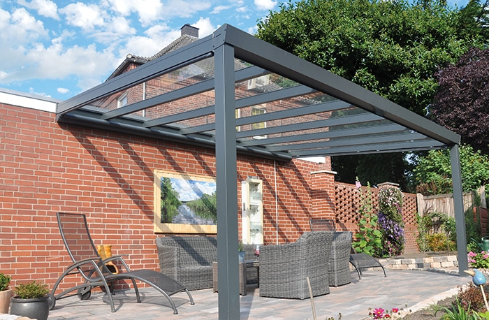 Terrassenüberdachung nach Maß Aluminium