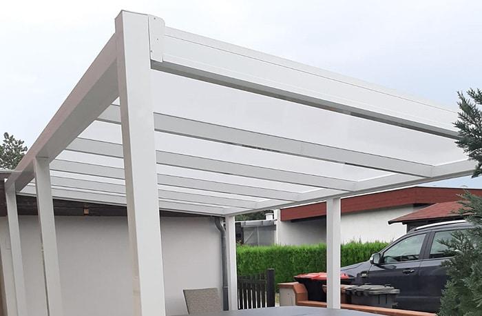 Terrassenüberdachung freistehend cc110 weiß