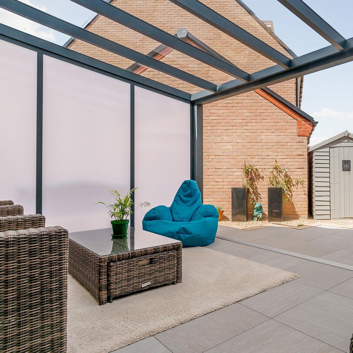 Terrassenüberdachung freistehend polycarbonat